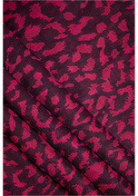 Diane von Furstenberg Modal Leopard Scarf in Spotted Cat Purple