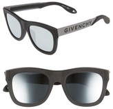 Givenchy Women's 52Mm Mirrored Rectangular Sunglasses - Black/ Silver