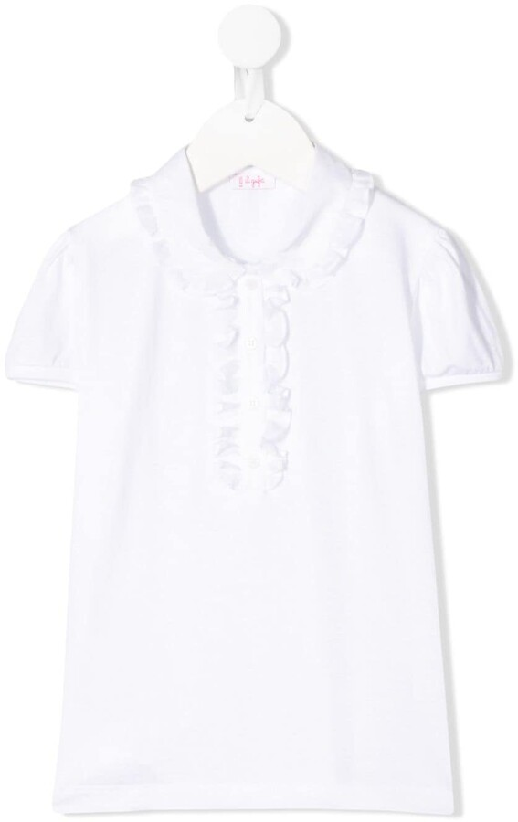 Il Gufo Ruffle Detail Shortsleeved Polo Shirt