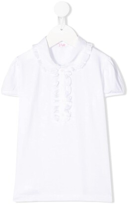 Il Gufo Ruffle Detail Shortsleeved Polo Shirt