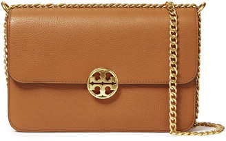 Tory Burch Chelsea Convertible Textured-leather Shoulder Bag