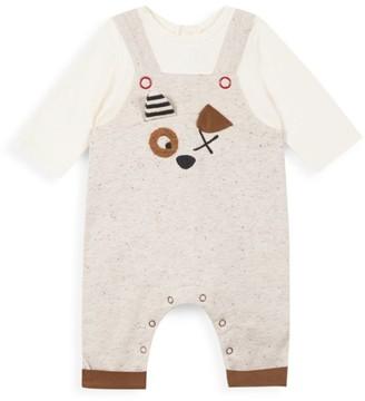 Catimini Baby Boy's 2-Piece Dog Applique Overalls & T-Shirt Set
