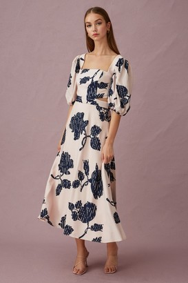 Keepsake LOCATION MIDI DRESS Mink Silhouette