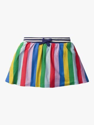 Boden Girls' Rainbow Stripe Jersey Skort, Multi