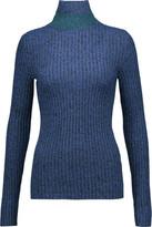 Just Cavalli Metallic ribbed-knit sweater