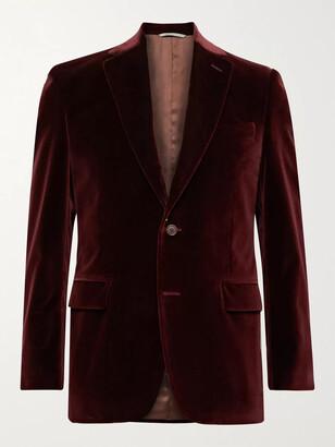 Canali Kei Slim-Fit Unstructured Cotton-Velvet Blazer