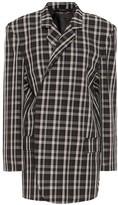 Balenciaga Checked virgin wool jacket