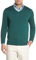 John W. Nordstrom Merino Wool V-Neck Sweater