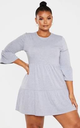 PrettyLittleThing Plus Grey Shift Dress