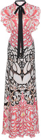 Temperley London Blaze Printed Silk Dress