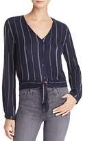 Bella Dahl Striped Tie-Hem Top
