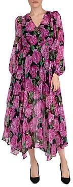 The Kooples Winter Peonies Printed Dress