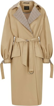 Palones Puff Sleeve D-Ring Trench Coat