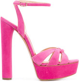 Casadei gathered strap platform sandals