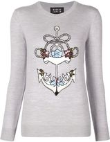 Markus Lupfer anchor embellished sweater - women - Merino - L
