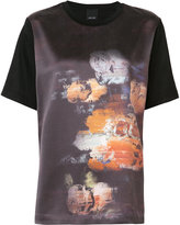 Josh Goot evening T-shirt - women - Cotton/Silk Satin - XS