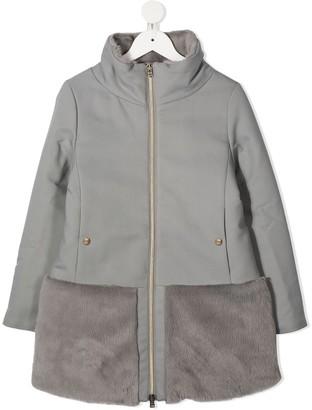 Herno Faux-Fur Panel Coat