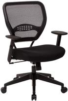 Office Star Professional AirGrid Back Managers Chair in Black