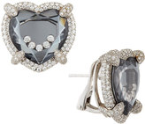 Chopard Happy Diamonds Floating Heart Button Earrings