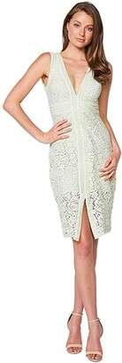 Bardot Halter Lace Dress (Pistachio) Women's Dress