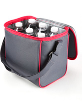 Fit & Fresh Gray & Pink Insulated Cooler Lunch Bag