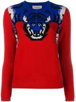 Gucci tiger knit jumper - women - Wool/Silk - XXS