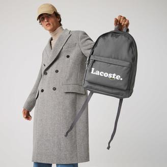Lacoste Men's Neocroc Branded Canvas Backpack