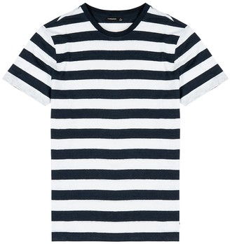 J. Lindeberg Coma striped linen T-shirt
