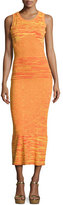 Moschino Sleeveless Space-Dyed Maxi Dress, Orange