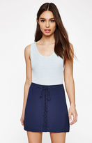 KENDALL + KYLIE Kendall & Kylie Full Lace-Up Mini Skirt