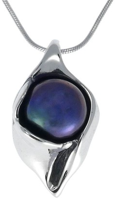 Hagit Sterling Cultured Freshwater Pearl Pendant with Chain
