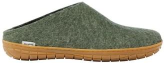 L.L. Bean Adults' Glerups Wool Slippers, Open Heel Rubber Outsoles