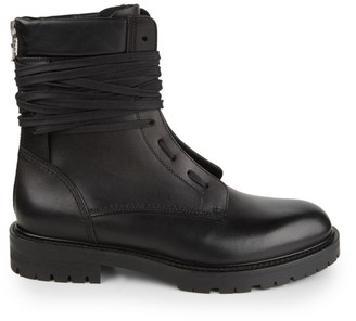 Amiri Army Combat Leather Boots