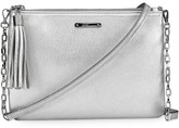 GiGi New York Chelsea Metallic Leather Clutch