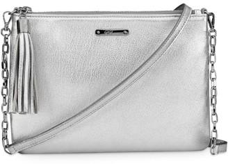 GiGi New York Chelsea Metallic Leather Crossbody Bag