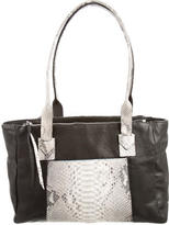 Carlos Falchi Python-Trimmed Conny Tote
