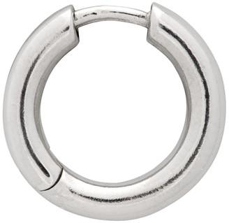 Maria Black Silver Polo Huggie Single Earring