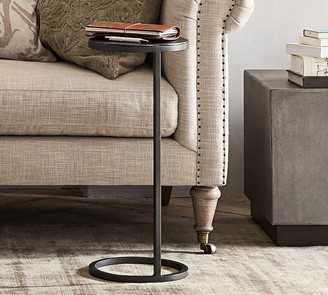 """Pottery Barn Duke 10"""" Round Metal Accent Table"""