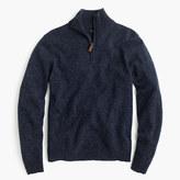 J.Crew Tall marled lambswool half-zip sweater
