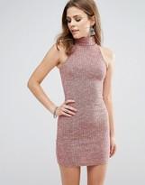 Glamorous Sleeveless High Neck Bodycon Dress