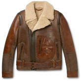 Belstaff Danescroft Leather-trimmed Shearling Jacket - Brown