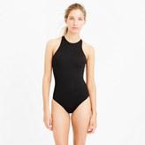 J.Crew High-neck zip-back one-piece swimsuit in Italian matte