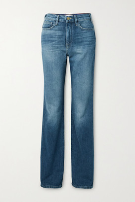 Frame Le Jane High-rise Straight-leg Jeans - Dark denim