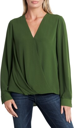 Vince Camuto Long Sleeve Faux Wrap Blouse