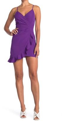 Do & Be Strappy Asymmetrical Ruffle Hem Dress