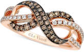 LeVian Le Vian Chocolatier® Diamond Infinity Ring (3/8 ct. t.w.) in 14k Rose Gold
