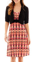 JCPenney Perceptions 3/4-Sleeve High-Buckle Jacket Dress - Petite
