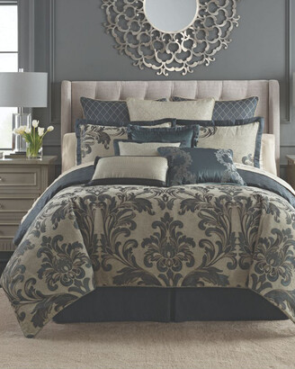 Waterford Everett Teal Reversible 4Pc Comforter Set