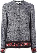 Diane von Furstenberg concealed fastening collarless shirt