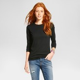 Mossimo Women's Long Sleeve Crew Neck T-Shirt Supply Co.TM (Juniors')